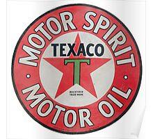 Vintage Texaco Motor Spirit Logo  Poster