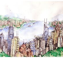The Victoria Harbour by Hyperling