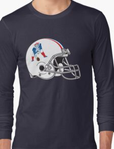Vintage Patriots Helmet  Long Sleeve T-Shirt
