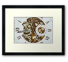 Automatic Men Watch With Visible Mechanism Framed Print
