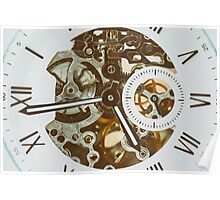 Automatic Men Watch With Visible Mechanism Poster