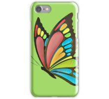Pretty Rainbow Butterfly Art iPhone Case/Skin