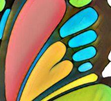 Pretty Rainbow Butterfly Art Sticker