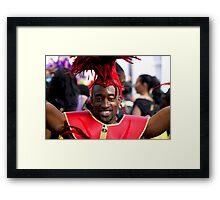 Carnival Celebrations in Red Framed Print