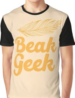 Beak Geek with feather Graphic T-Shirt