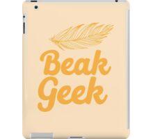 Beak Geek with feather iPad Case/Skin