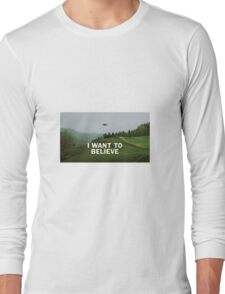 I Want to Believe, X Files Long Sleeve T-Shirt
