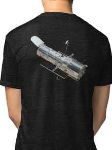 Astronomy, Hubble, Space, Telescope, in Orbit, Cosmos, Cosmic, Universe Tri-blend T-Shirt