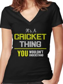 Cricket Women's Fitted V-Neck T-Shirt