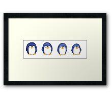 Row of Penguins Framed Print