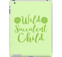 Wild succulent child iPad Case/Skin
