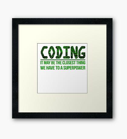 Programmer Framed Print