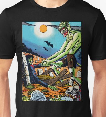 Ghoul raising Zombies in a graveyard Unisex T-Shirt