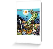 Ghoul raising Zombies in a graveyard Greeting Card