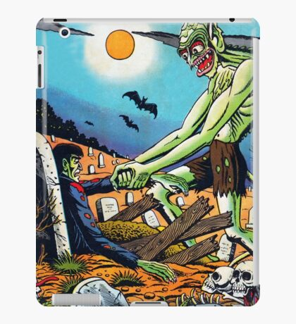 Ghoul raising Zombies in a graveyard iPad Case/Skin