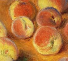 Claude Monet - Peaches Sticker