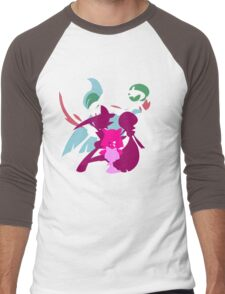 Ralts Kirlia Gardevoir Gallade Evolution Men's Baseball ¾ T-Shirt
