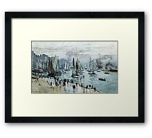 Claude Monet - Fishing Boats Leaving The Harbor Le Havre Framed Print