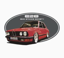 BMW E28 Stance red-4 by BSsociety
