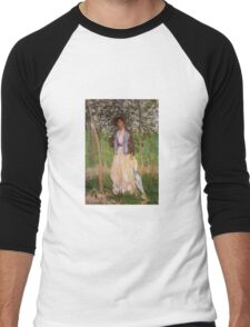 Claude Monet - The Stroller Suzanne Hoschede Men's Baseball ¾ T-Shirt