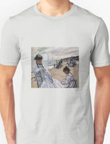 Claude Monet - On The Beach At Trouville 1871 Unisex T-Shirt
