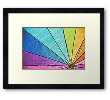 Rainbow Umbrella Abstract Framed Print