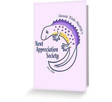 Newt Appreciation Society Greeting Card