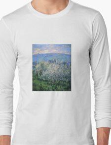Claude Monet - Plums Blossom Long Sleeve T-Shirt