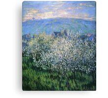 Claude Monet - Plums Blossom Canvas Print