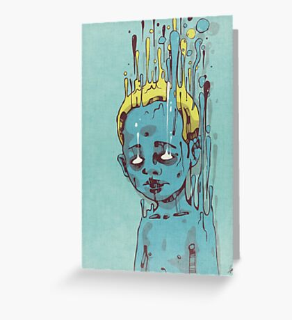 The Blue Boy with the Golden Hair Greeting Card