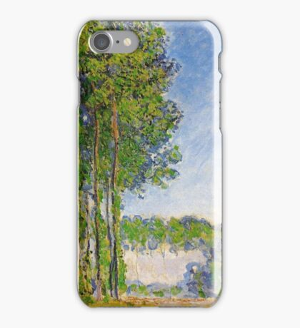 Claude Monet - Poplars View From The Marsh 1892 iPhone Case/Skin