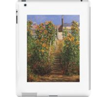 Claude Monet - The Steps At Vetheuil iPad Case/Skin