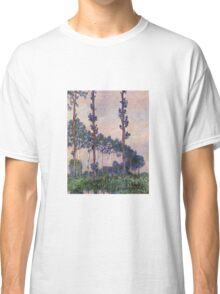 Claude Monet - Three Trees In Grey Weather Classic T-Shirt