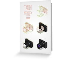 isometric drawing tutorial Greeting Card