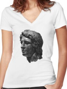 Alexander the Great Women's Fitted V-Neck T-Shirt