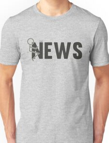 Fuck The News Funny Protest Against Mainstream Media   Unisex T-Shirt