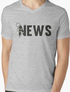 Fuck The News Funny Protest Against Mainstream Media   Mens V-Neck T-Shirt