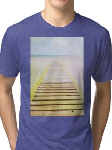 Summer beach in watercolor Tri-blend T-Shirt