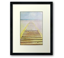 Summer beach in watercolor Framed Print