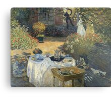 Claude Monet - The Luncheon 1 Metal Print