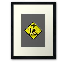 Zombie Crossing Framed Print