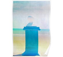 Summer beach in watercolor Poster