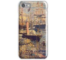 Claude Monet - The Grand Dock At Le Havre 1872 iPhone Case/Skin