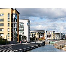 Buildings by Canal Photographic Print