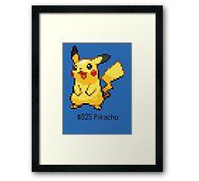 Pokedex: Pikachu (#025) Framed Print
