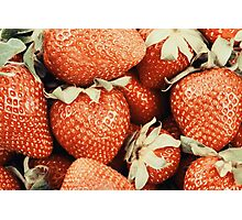 Fresh Red Strawberries For Sale In Fruit Market Photographic Print