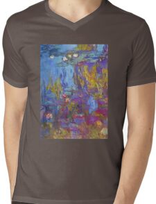 Claude Monet - Water Lilies 1917 Mens V-Neck T-Shirt