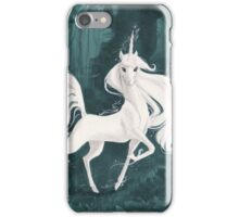 White Unicorn in the Woods iPhone Case/Skin