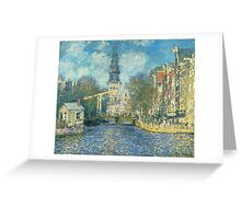 Claude Monet - Zuiderkerk In Amsterdam Greeting Card