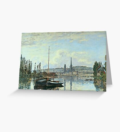 Claude Monet - View Of Rouen Greeting Card